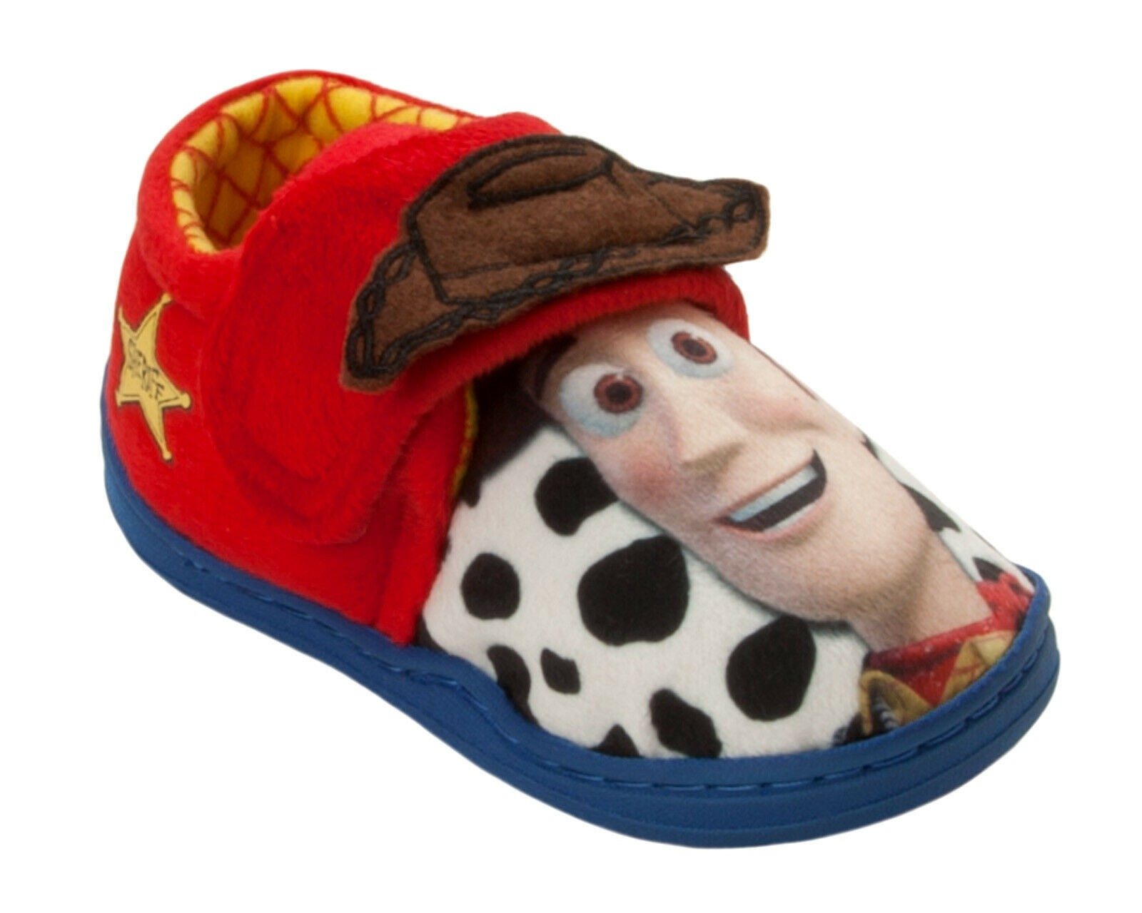 Toy Story Woody Boys Blue /& Red Low Top Slippers UK Sizes Child 6-12
