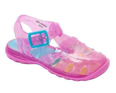 Girls Peppa Pig Pink Glitter Jelly Sandals