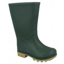 BOYS GREEN WELLIES RAIN WATERPROOF WELLINGTON SNOW BOOTS KIDS UK SIZE 4-11