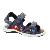 BOYS MARVEL AVENGERS NAVY SUMMER BEACH WALKING SPORT SANDALS KIDS UK SIZE 8-2