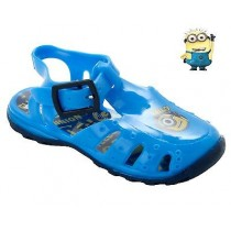 BOYS DESPICABLE ME MINION BLUE SUMMER BEACH WATER JELLY SANDALS SHOES