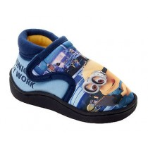 BOYS DESPICABLE ME MINIONS BLUE / YELLOW NOVELTY CHARACTER SLIPPERS