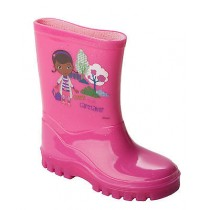 GIRLS DOC MCSTUFFINS PINK WELLIES WELLINGTON RAIN SNOW BOOTS