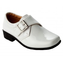 BOYS WHITE PATENT FORMAL WEDDING PAGE BOY CONFIRMATION DRESS SHOES KIDS
