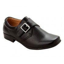 BOYS BLACK FORMAL WEDDING PAGE BOY SMART BACK TO SCHOOL SHOES KIDS