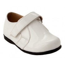 BOYS CREAM PATENT SMART WEDDING PAGE BOY COMMUNION FORMAL PARTY SHOES