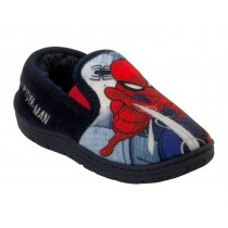BOYS OFFICIAL MARVEL SPIDERMAN CHARACTER FUR LINED SLIP ON SLIPPERS KIDS SZE 8-2